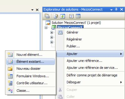 Ajout du fichier d'interface des services web